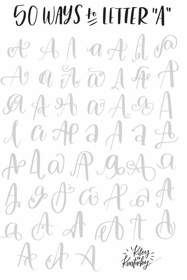 A Brush Lettering