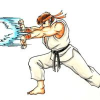 Hadoken Ryu Street Fighter Fighter Tattoo Stencil Street Art