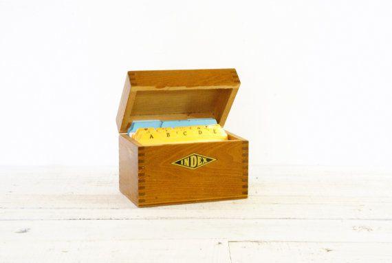 Oak index card box recipe by larch tradingc ompany on etsy oak index card box recipe by larch tradingc ompany on etsy sciox Image collections