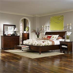 Charming and energetic the ashfield storage collection is perfect for your next bedroom a for Ashfield 6 piece queen storage bedroom set