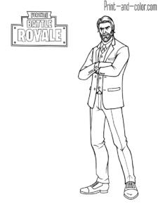 Fortnite Battle Royale Coloring Page Reaper Coloriage Coloriage