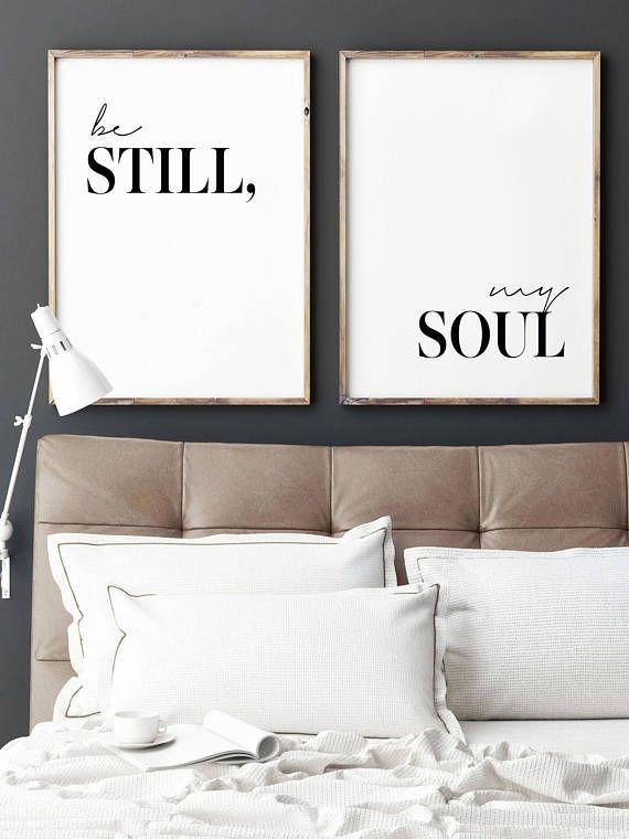 Be Still My Soul, Be Still My Soul Print, Printable wall art, Set of ...