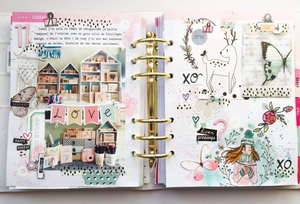 Dans Mon Planner Mon Bric A Scrap Mini Albums Scrapbook Album Photo Scrapbooking Art Sur Livre