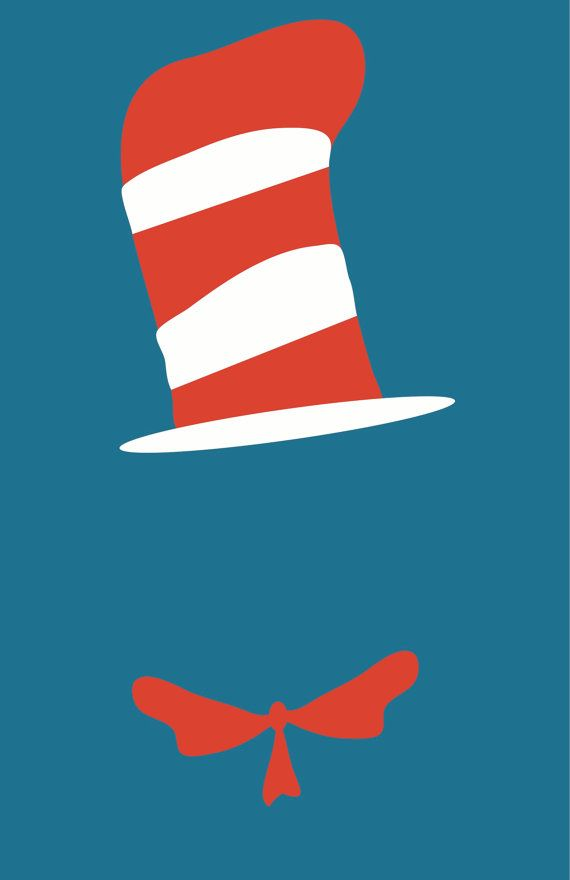 Cat In The Hat By Progressiveprints On Etsy   20 00