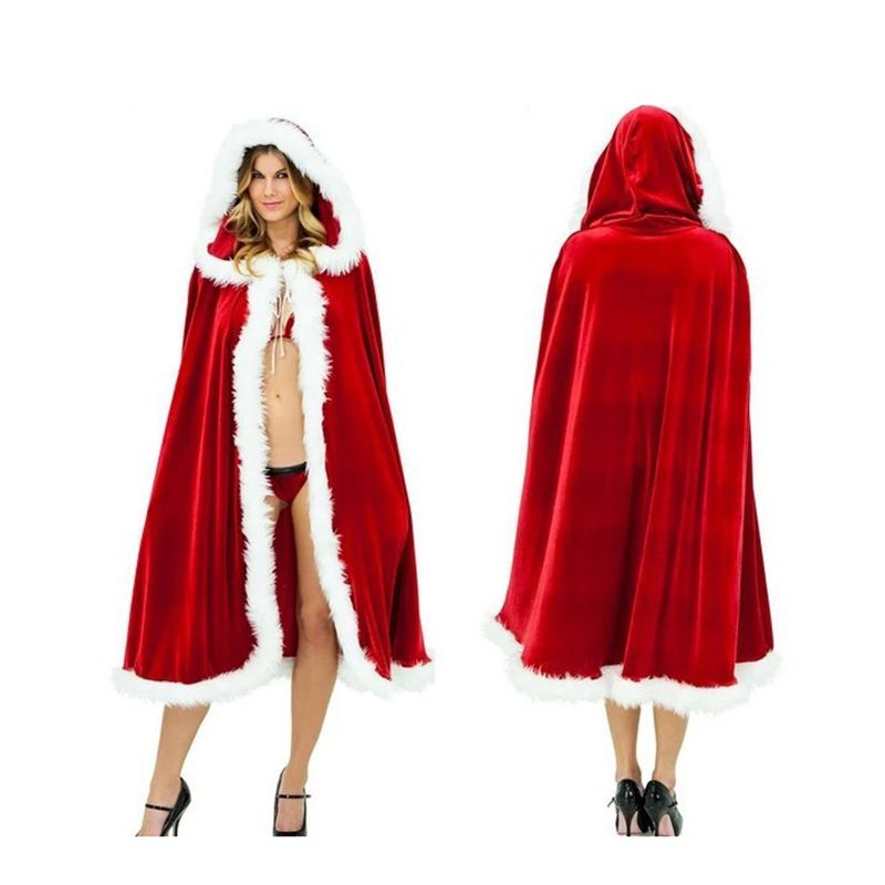 120cm Halloween Christmas Cloak With Cap Dark Red Party Masquerade - sexy halloween decorations