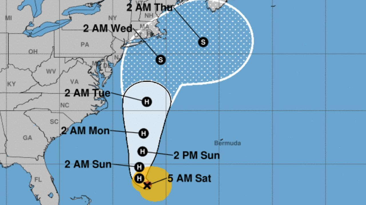 NWS Heading north, Jose brings swells, rip currents