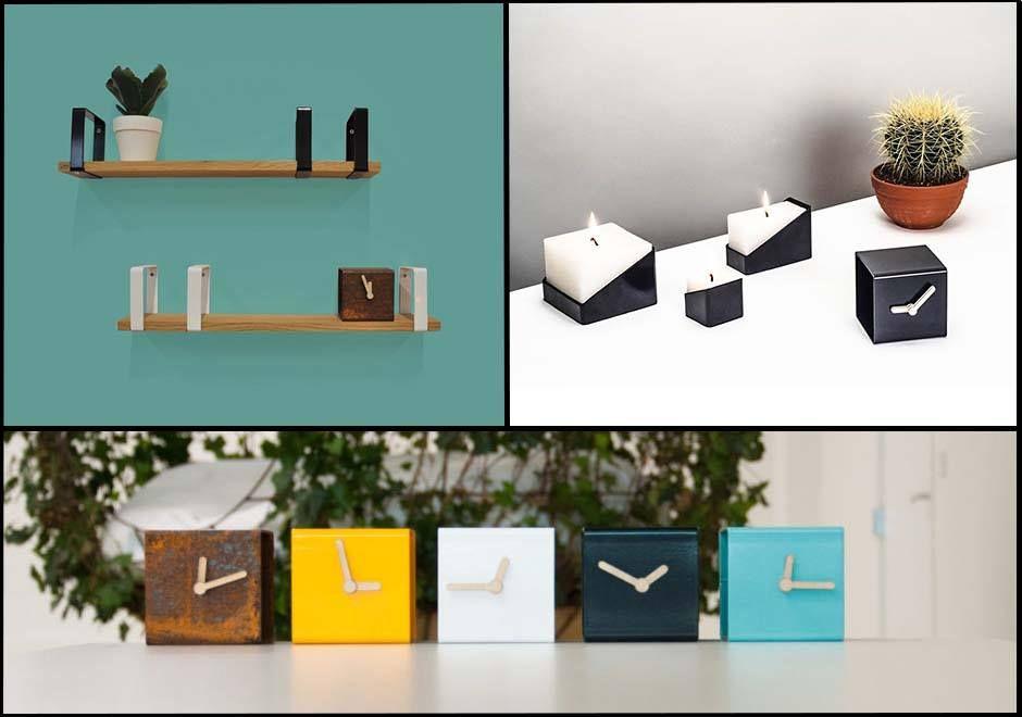 Spotlight: Lente Label, two dutch designers inspired by #colours and #materials #designer #clock #design