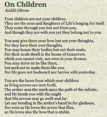 Image result for kilbran gibran your children