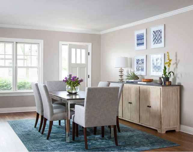 Whole House Paint Color IdeasThe Wall In This Dining Room Is Once Again Revere Pewter By Benjamin Moore And The Trim Door