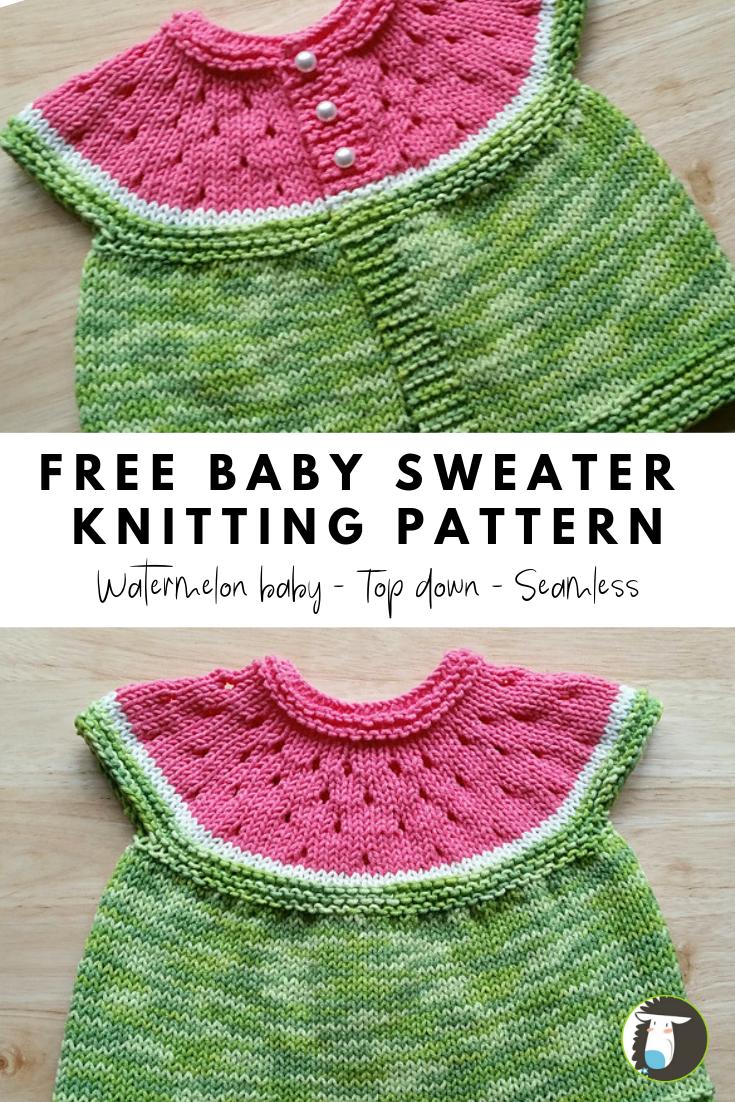 БЕСПЛАТНЫЙ образец вязания детского свитера: Этот легкий вязаный детский свитер связан из …