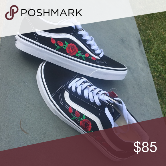 9112655e10 Selling this Custom Rose Vans on Poshmark! My username is  kingrasta  .   shopmycloset  poshmark  fashion  shopping  style  forsale  Vans  Other