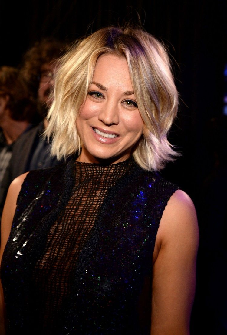 Bob Frisuren Kaley Cuoco Kinnlange Haare Gestuft Party Lookjpg 750