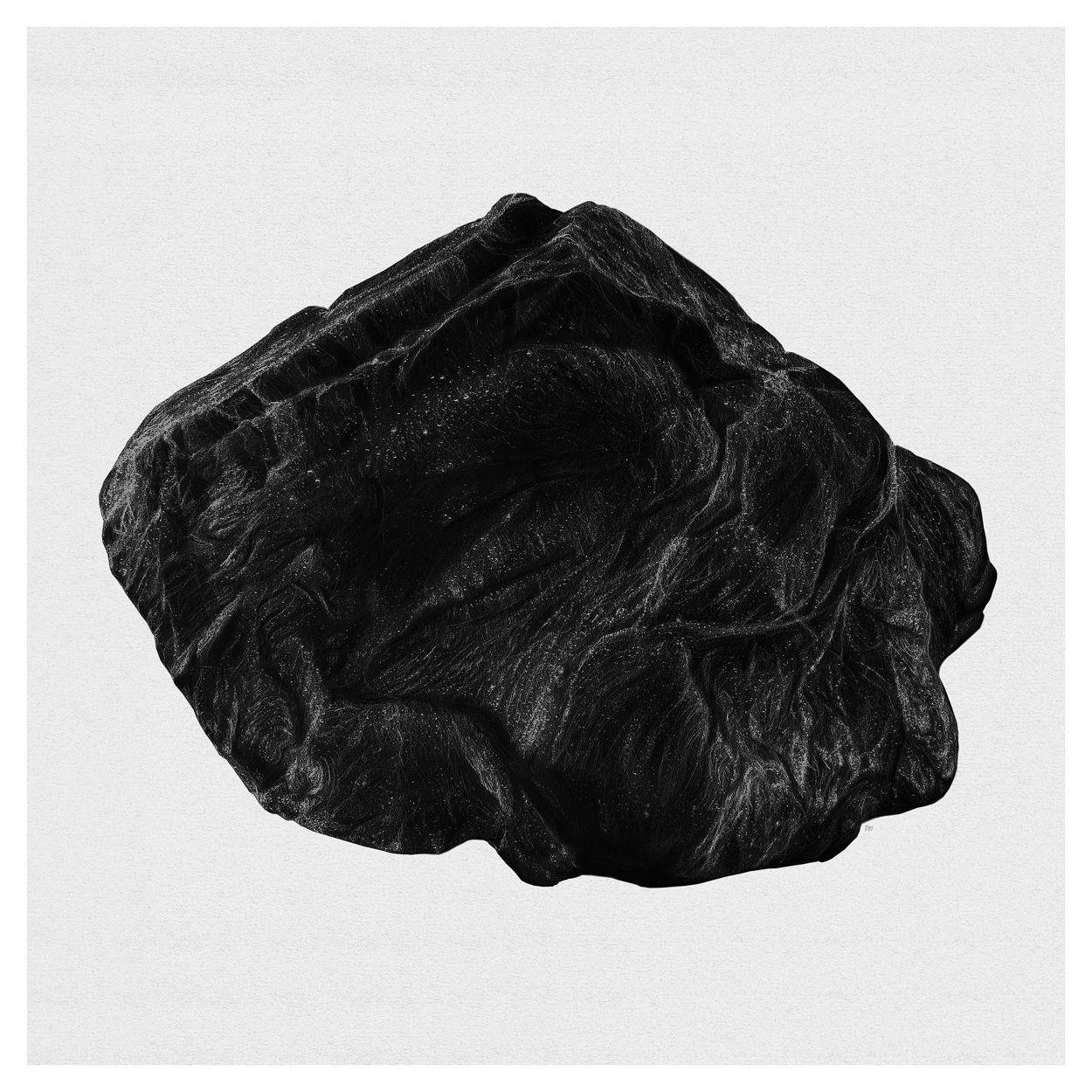 Rocks. Pencil drawing 70x70cm. by Børge Bredenbekk Art