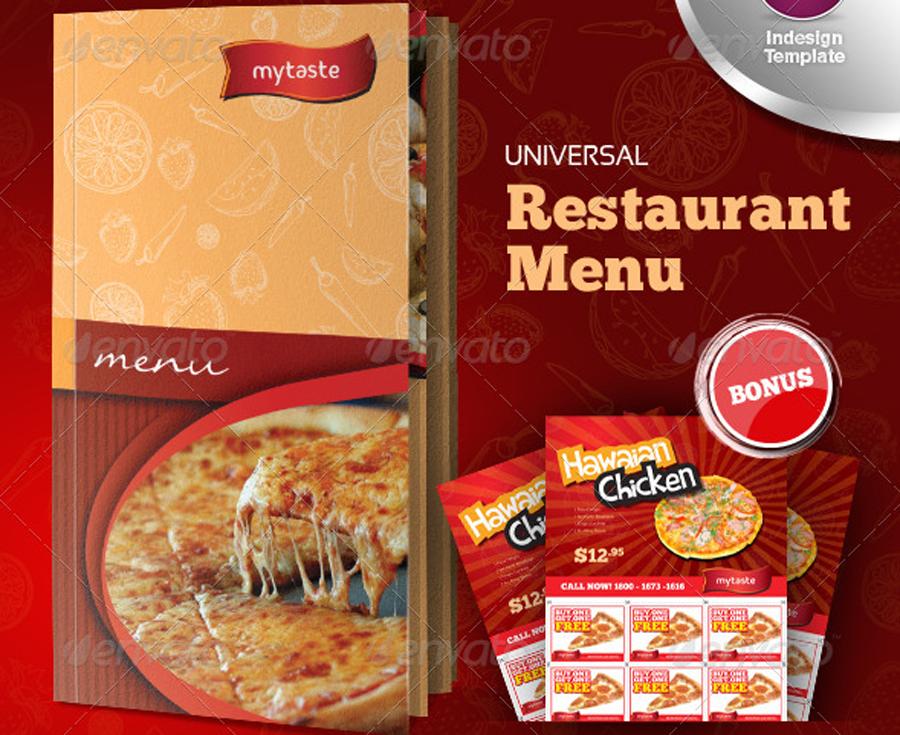 Pizzeria Pizza Menukartenvorlage Speisekarte Speisekarte Restaurant Flyer Vorlage Speisekarte