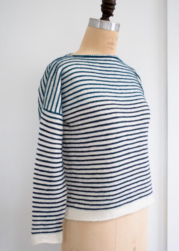 Free Knitting Patterns For Spring Sweaters : Striped Spring Shirt - Free Knitting Pattern from The Purl Bee Knitting Kni...