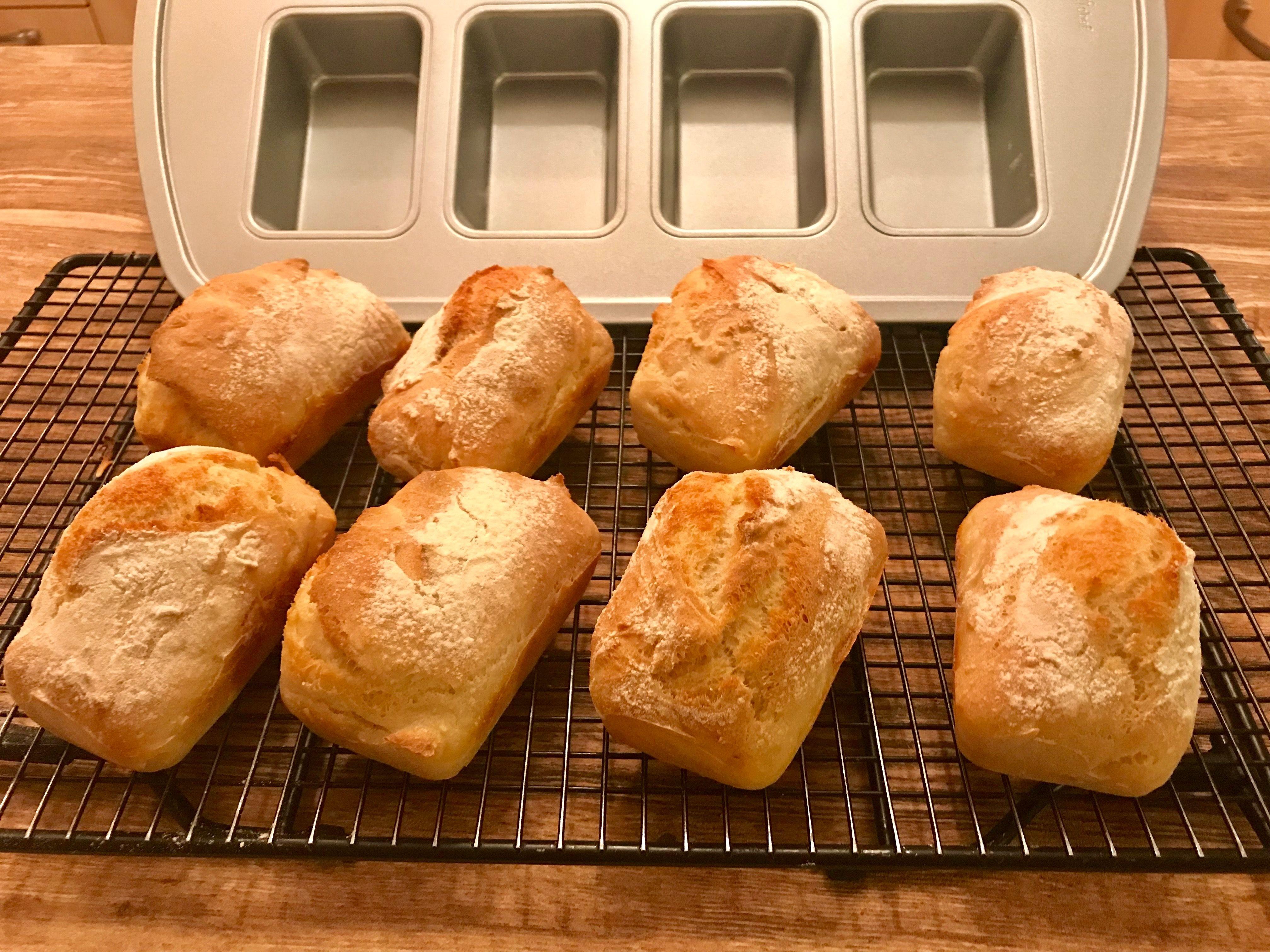 Baguette Brotchen Magique Aus Der Mini Kuchen Form Von Pampered Chef Brot Selber Backen Rezept Baguette Brotchen Rezepte