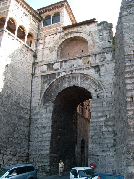 The Arco Etrusco Or Etruscan Arch In Perugia It Was Built In