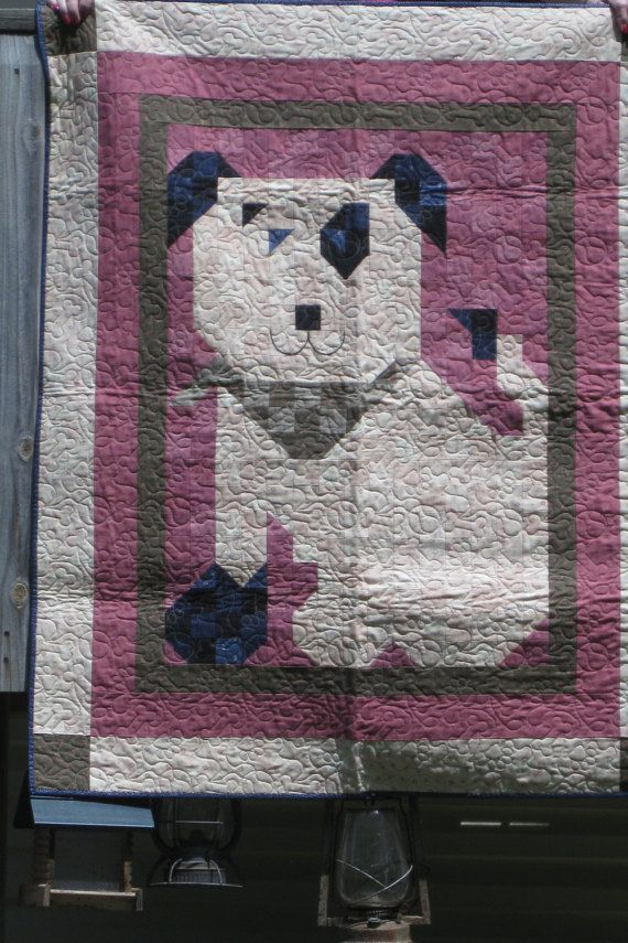 Quilt Patch Pal Dog, Quiltmaker magazine pattern, size 42 x 54, machine quilted…