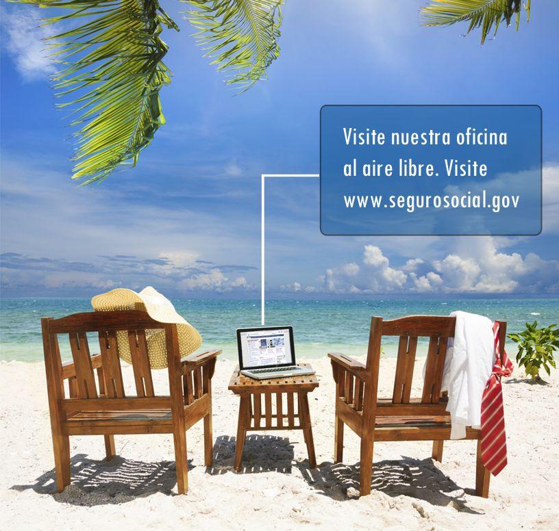 El Seguro Social trae la oficina al aire libre. Visítela en www.segurosocial.gov.