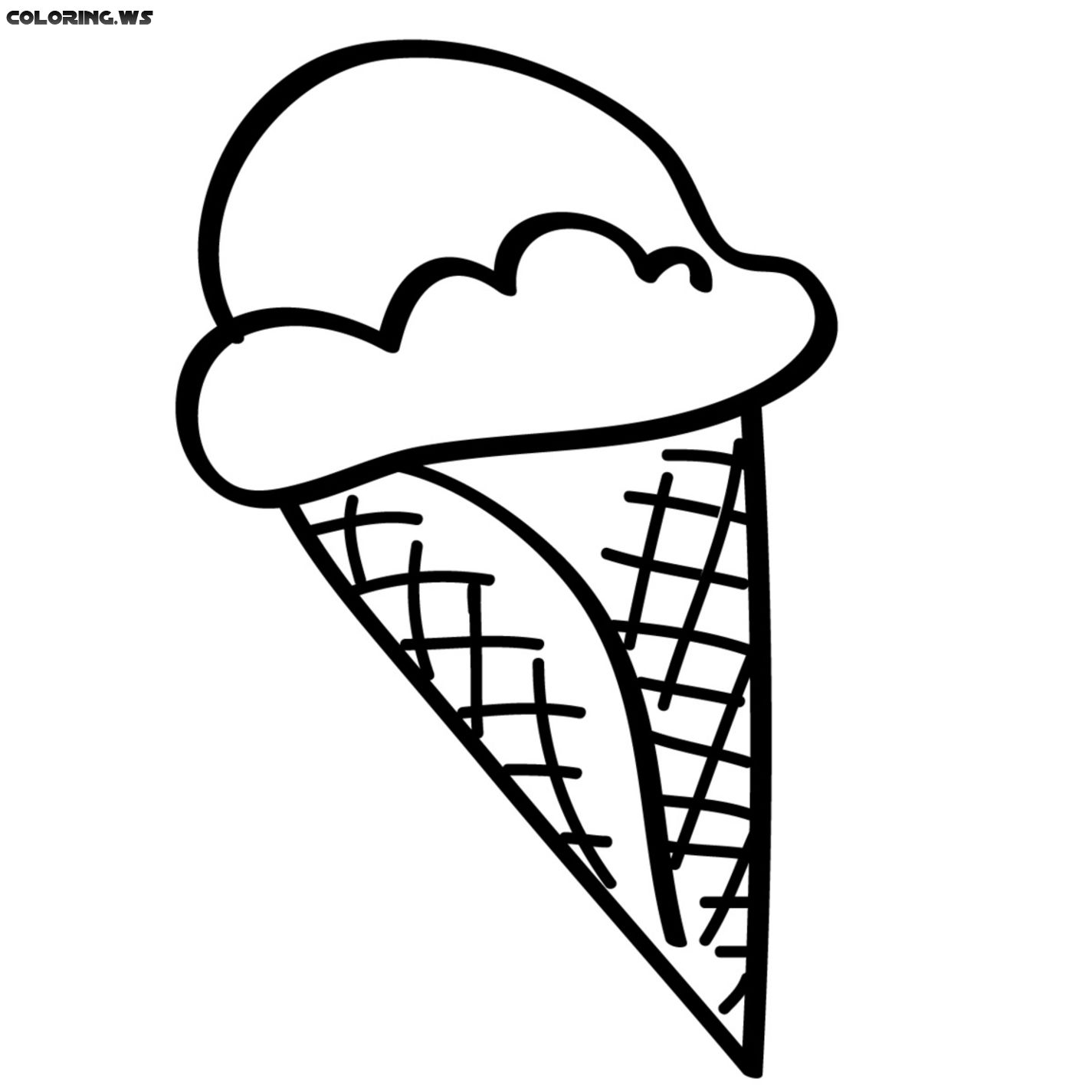 Ice Cream Cone Coloring Page Color Coloring Coloringpages