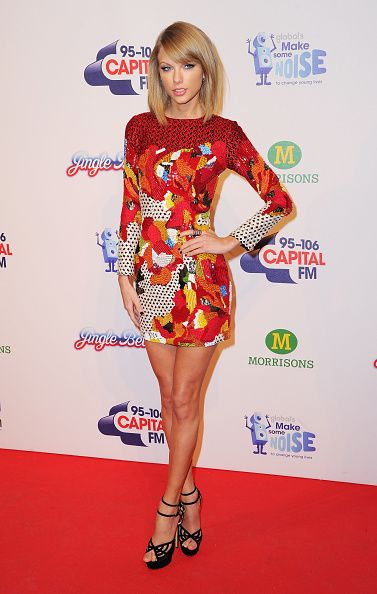 In Sachi + Babi at the Capital Jingle Bell Ball. See Taylor Swift's full fashion evolution, from sequins in 2007 to her many crop tops today.