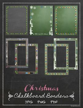 Christmas Chalkboard Backgrounds And Borders Christmas Chalkboard Chalkboard Background Chalkboard Border