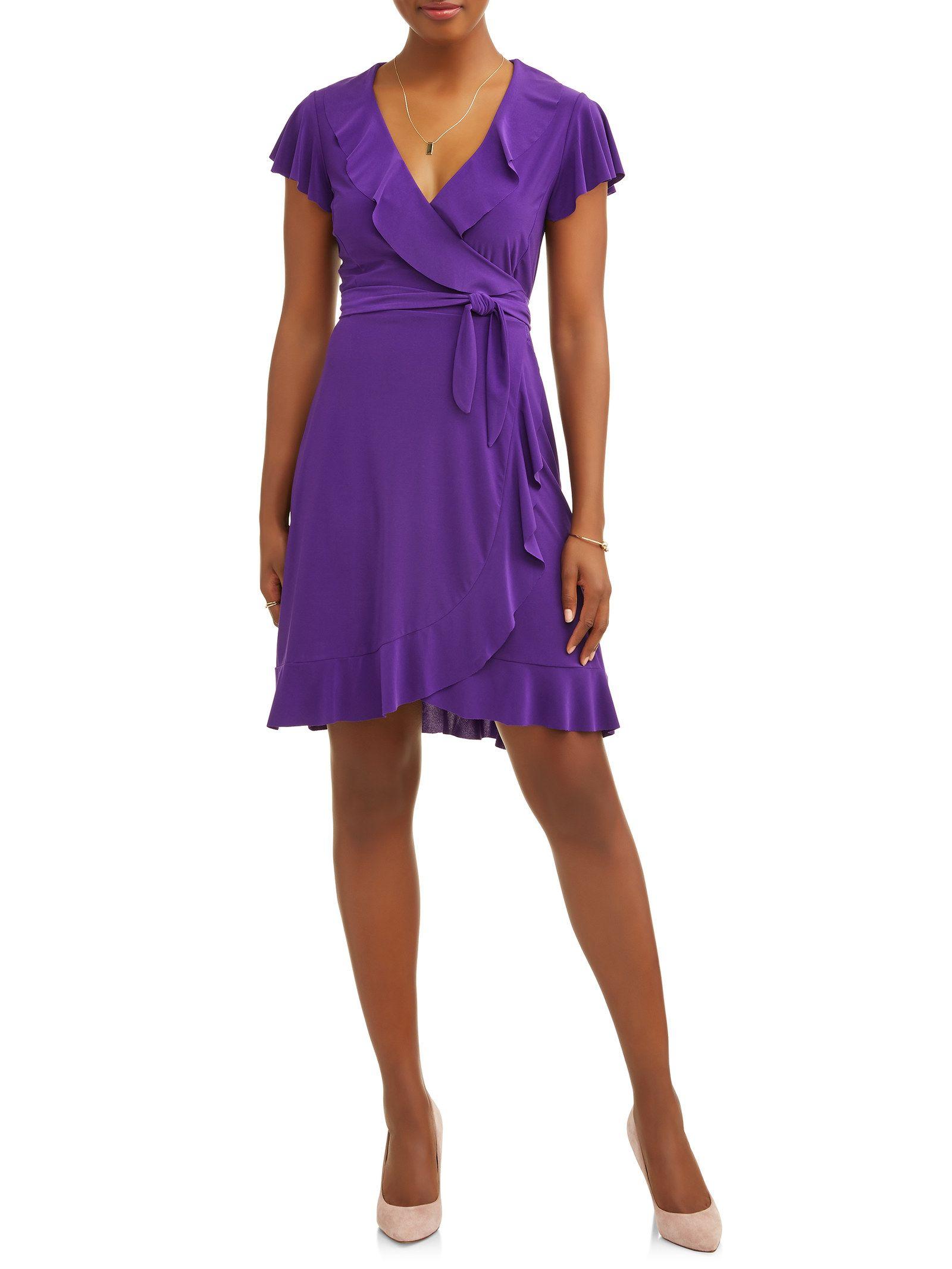 31 Stylish Things No One Will Believe You Got From Walmart Wrap Dress Ruffle Wrap Dress Casual Wrap Dress [ 2133 x 1600 Pixel ]