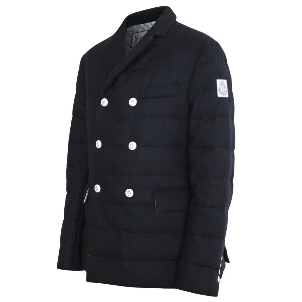 d2d1551a17cb MONCLER GAMME BLEU x Thom Browne quilted coat wool cashmere padded ...