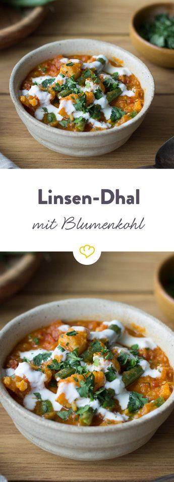 Linsen-Dhal mit Blumenkohl