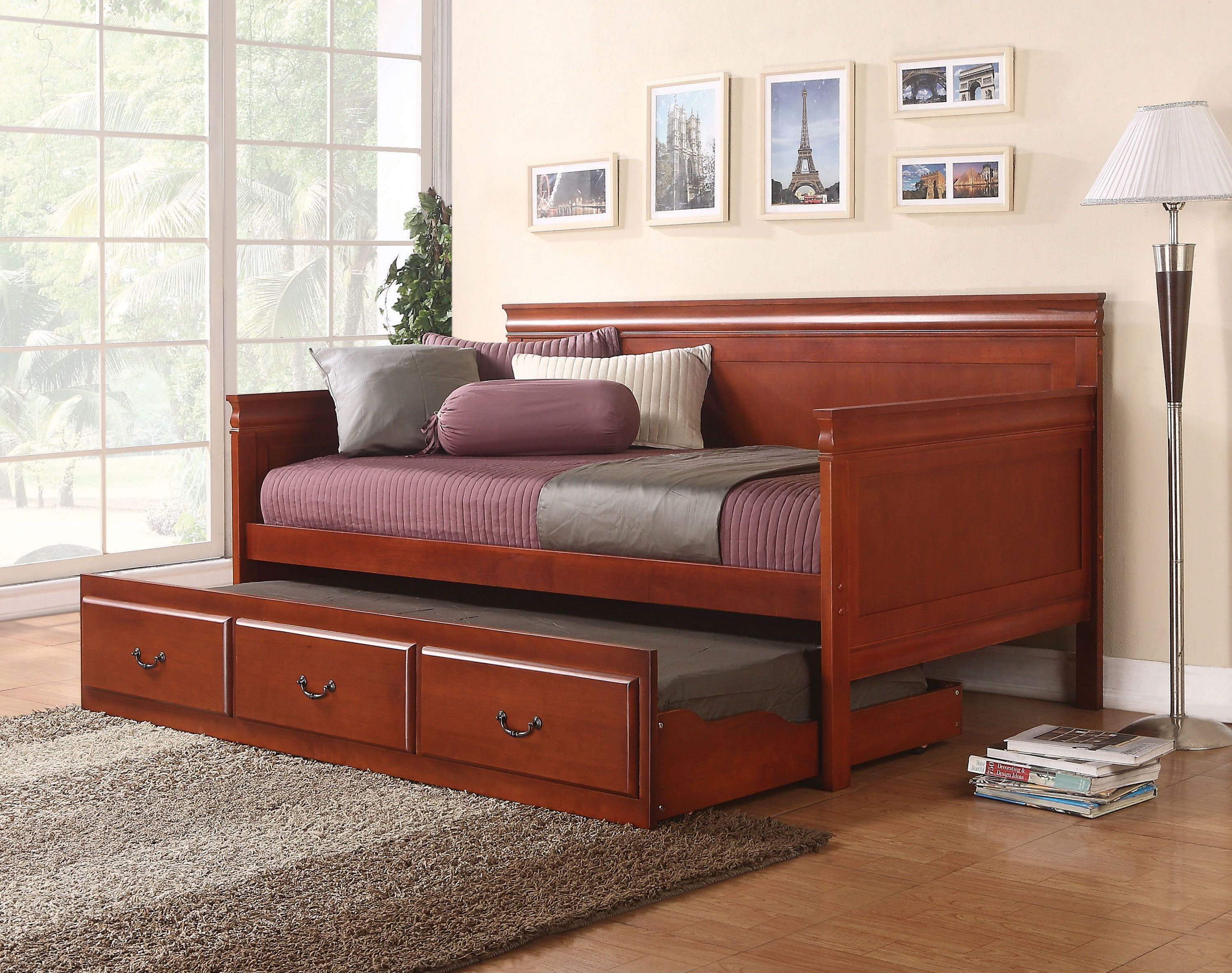 Coaster 300036 Cherry Twin Daybed with Trundle Daybed