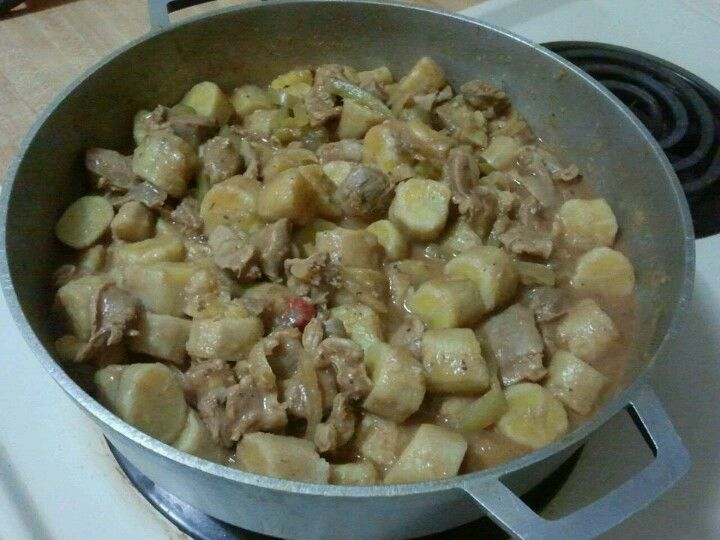 This Is A Puerto Rican Dish Called Guineos En Escabeche Its Made