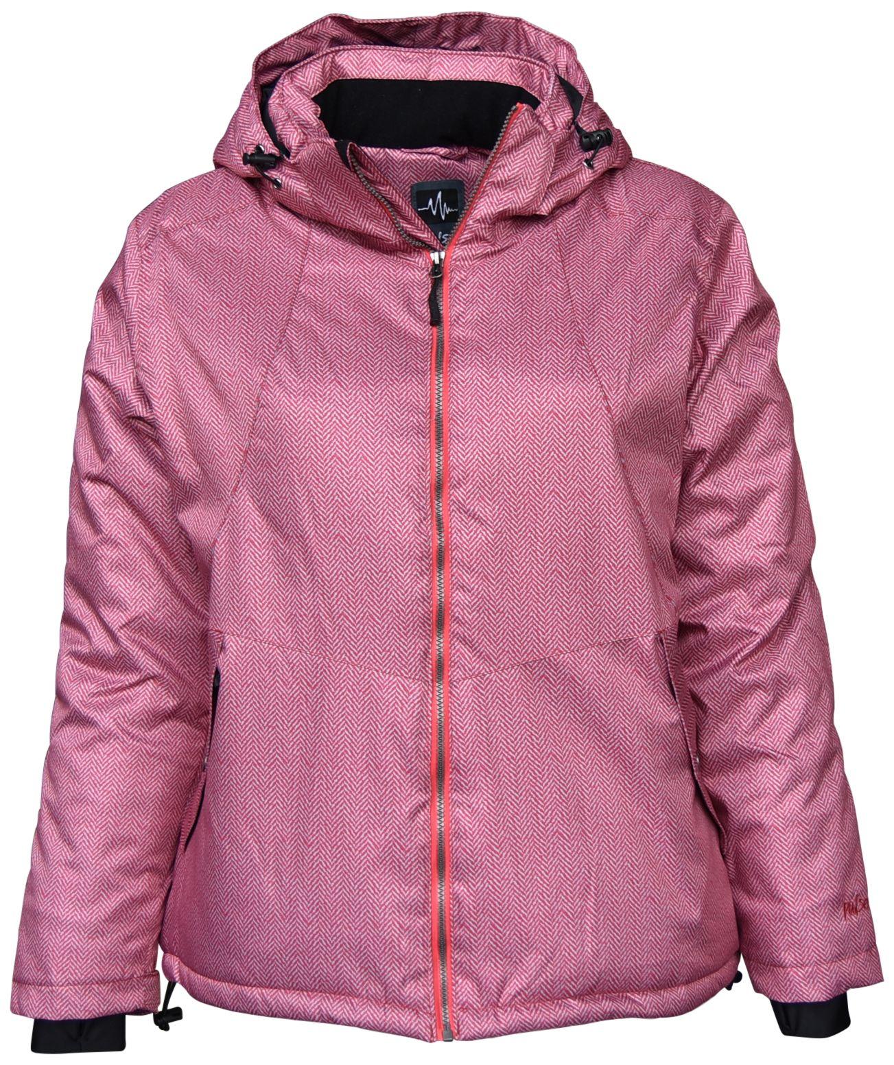 Pulse Women S Extended Plus Size Ivy Insulated Snow Ski Jacket 1x 2x 3x 4x 5x 6x Juicy Melon Ski Jacket Jackets Women Ski Jacket [ 1552 x 1303 Pixel ]