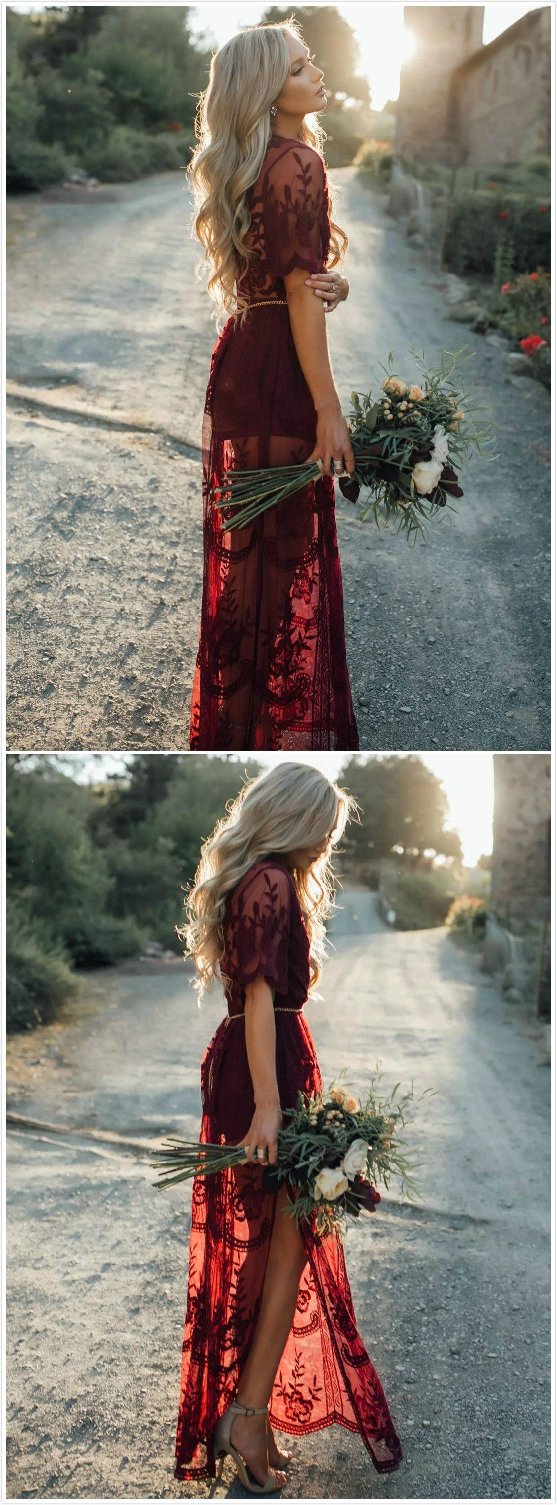 Womenus deep v neck short sleeve high waist lace prom dress hair