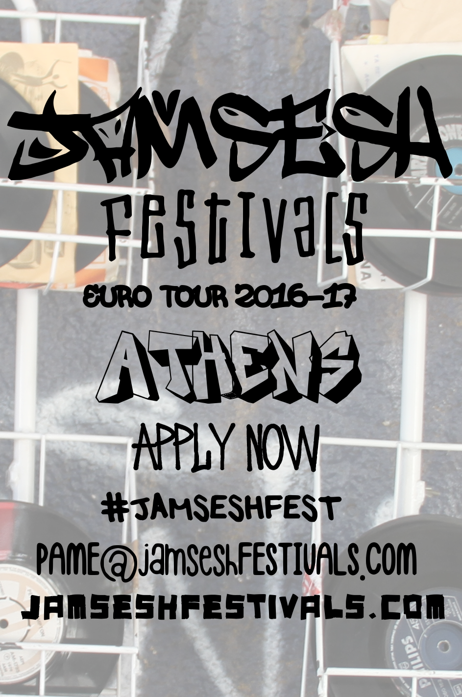 JamSeshFestivals hits #Athens this October on the #JAMSESHFEST EuroTour'16 covering 22 cities in 33 days across Europe and continuing on to 2016/2017 Australia & New Zealand Tour offering ARTISTS discovered along the way an opportunity to join the tour group across the EU, all the way down under and beyond! APPLICATIONS NOW OPEN www.jamseshfestivals.com