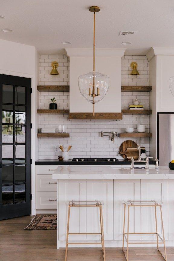 BECKI OWENS  Villa Bonita Kitchen Reveal! White And Wood Kitchen, Mix  Metals,