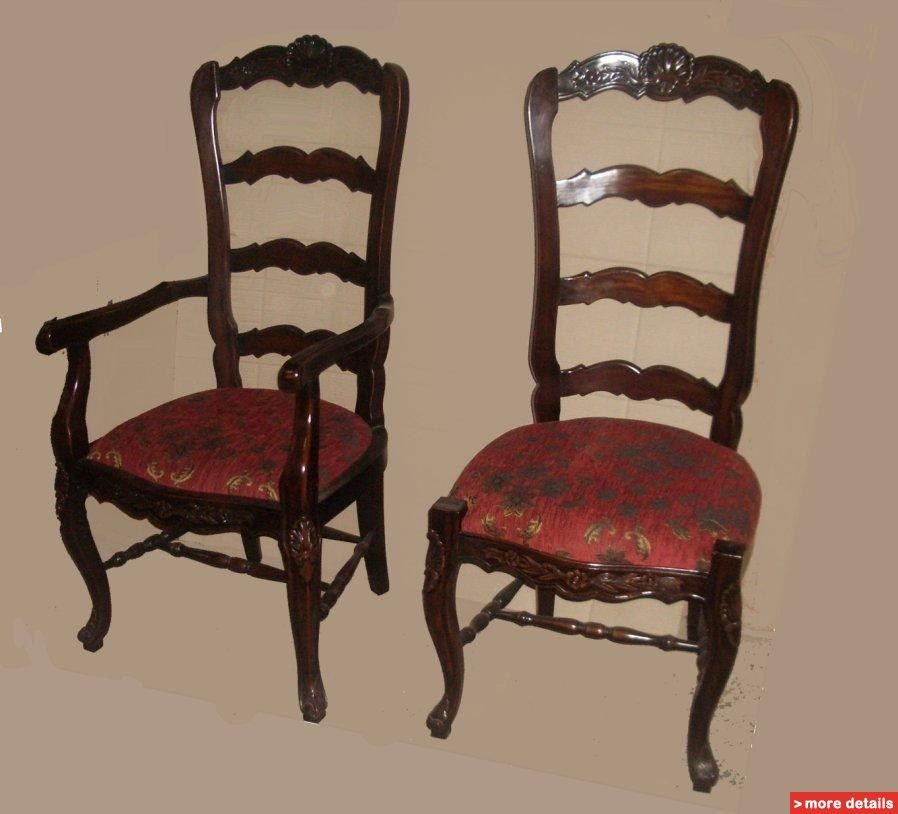 Country French Furniture Reproductions | Antique Reproduction French Country  Dining Chairs / Indonesia Dining .