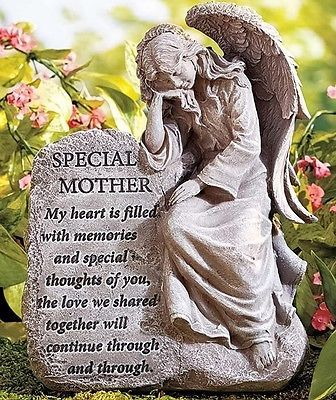 Special Mother Memorial Garden Angel Statue Yard Art Lawn Grave Outdoor Decor Angels