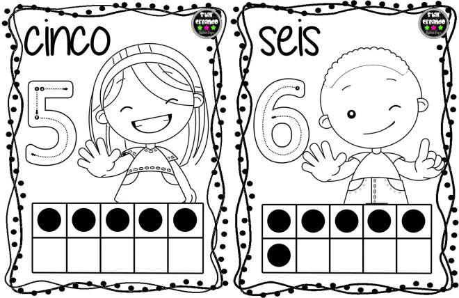 Tarjetas Para Colorear Y Repasar Los Numeros Del 1 Al 10 Numero