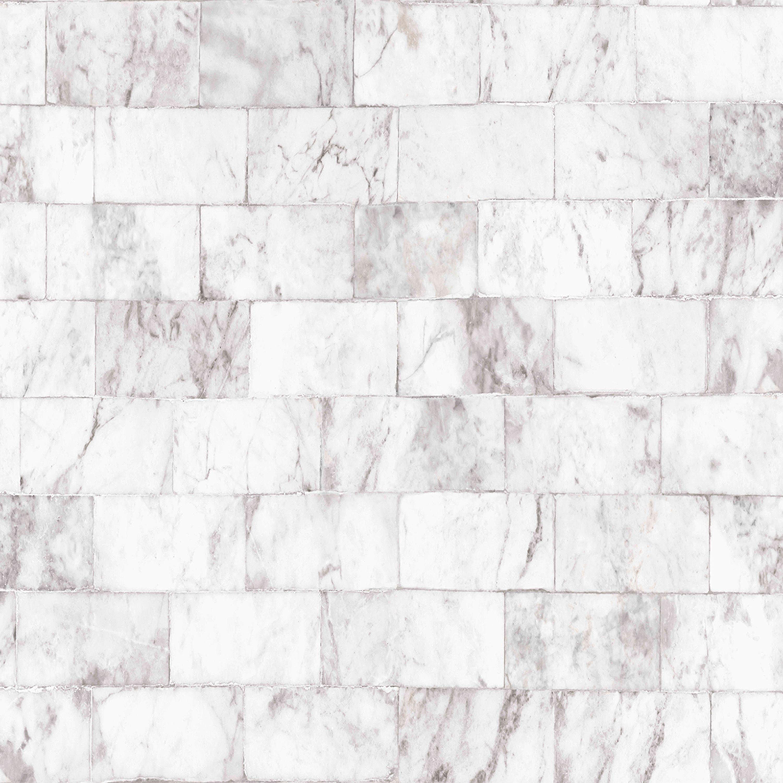 Contour Carrera Grey Marble Brick Matte Effect Wallpaper Departments Diy At B Q Grey Removable Wallpaper Brick Wallpaper Grey Wallpaper