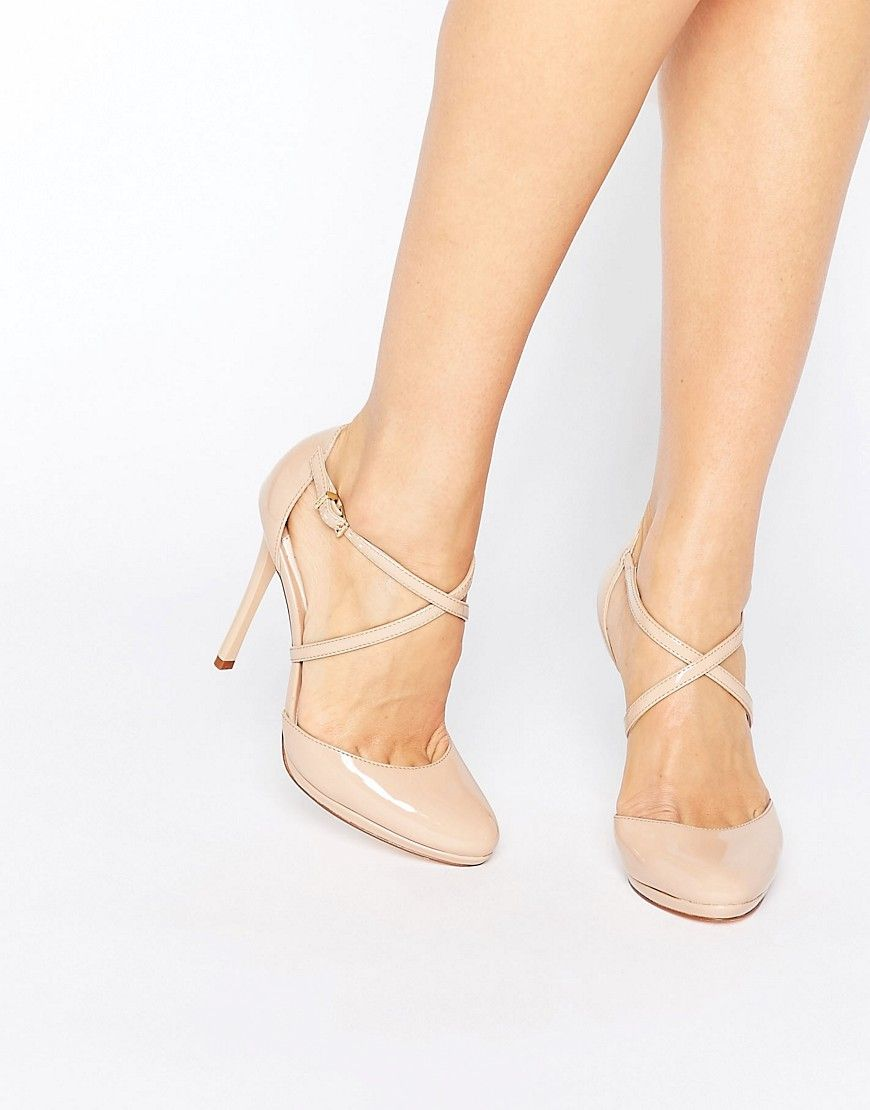 Faith Clara Nude Strappy Heeled Shoes - Beige