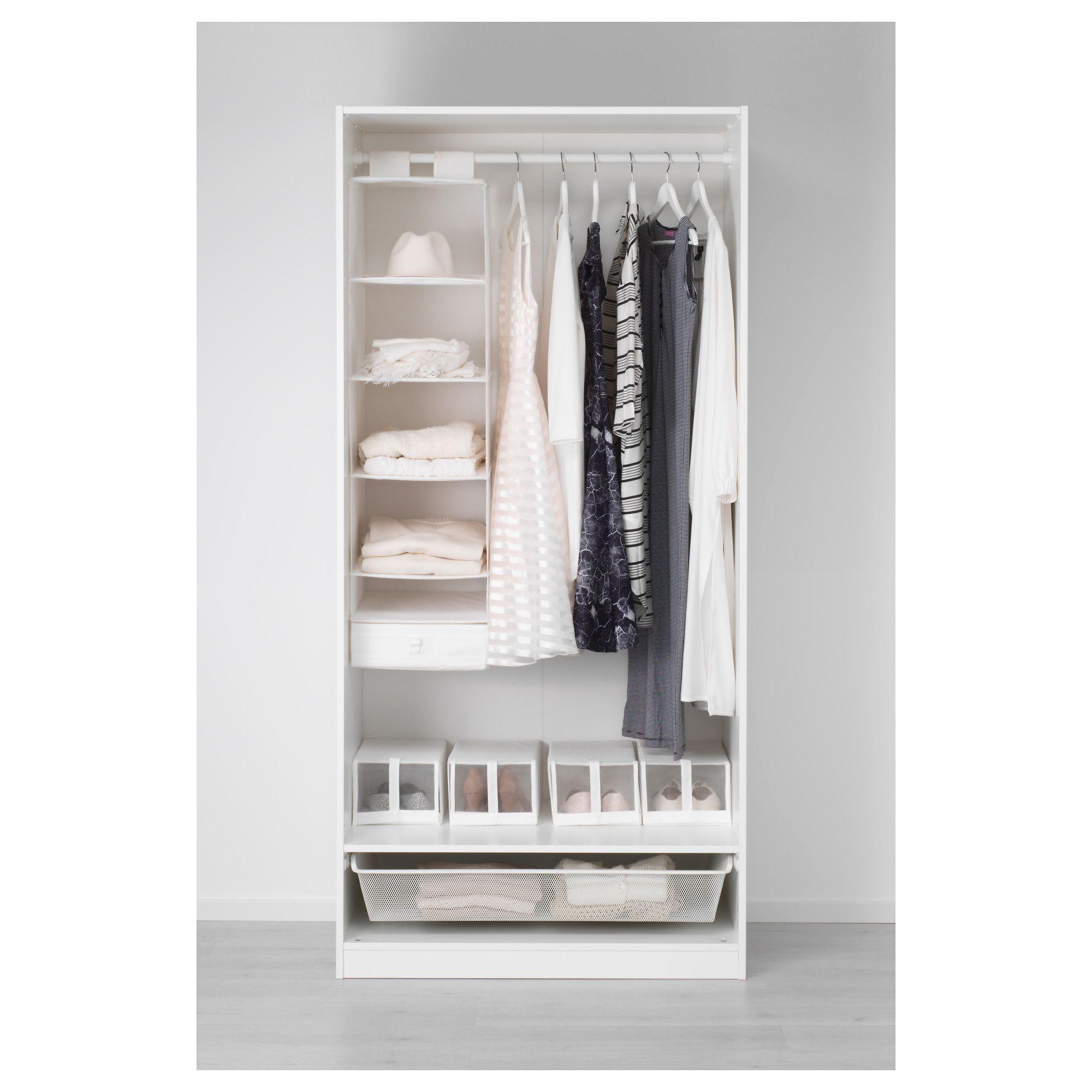 IKEA PAX Wardrobe white, Bergsbo white Pax wardrobe