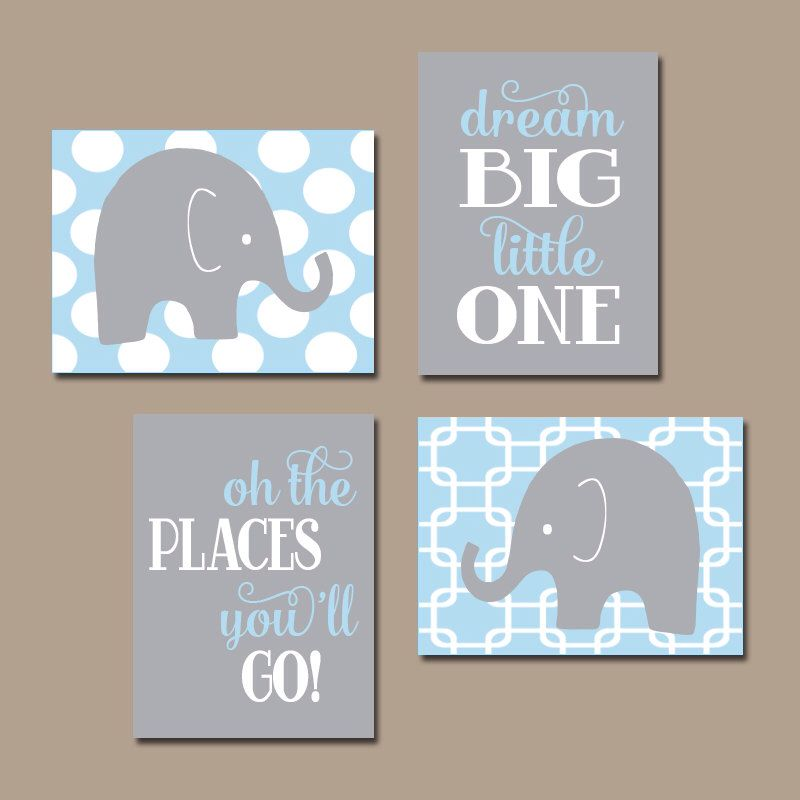 Baby Boy Wall Art baby boy nursery wall art canvas or prints elephant wall art baby