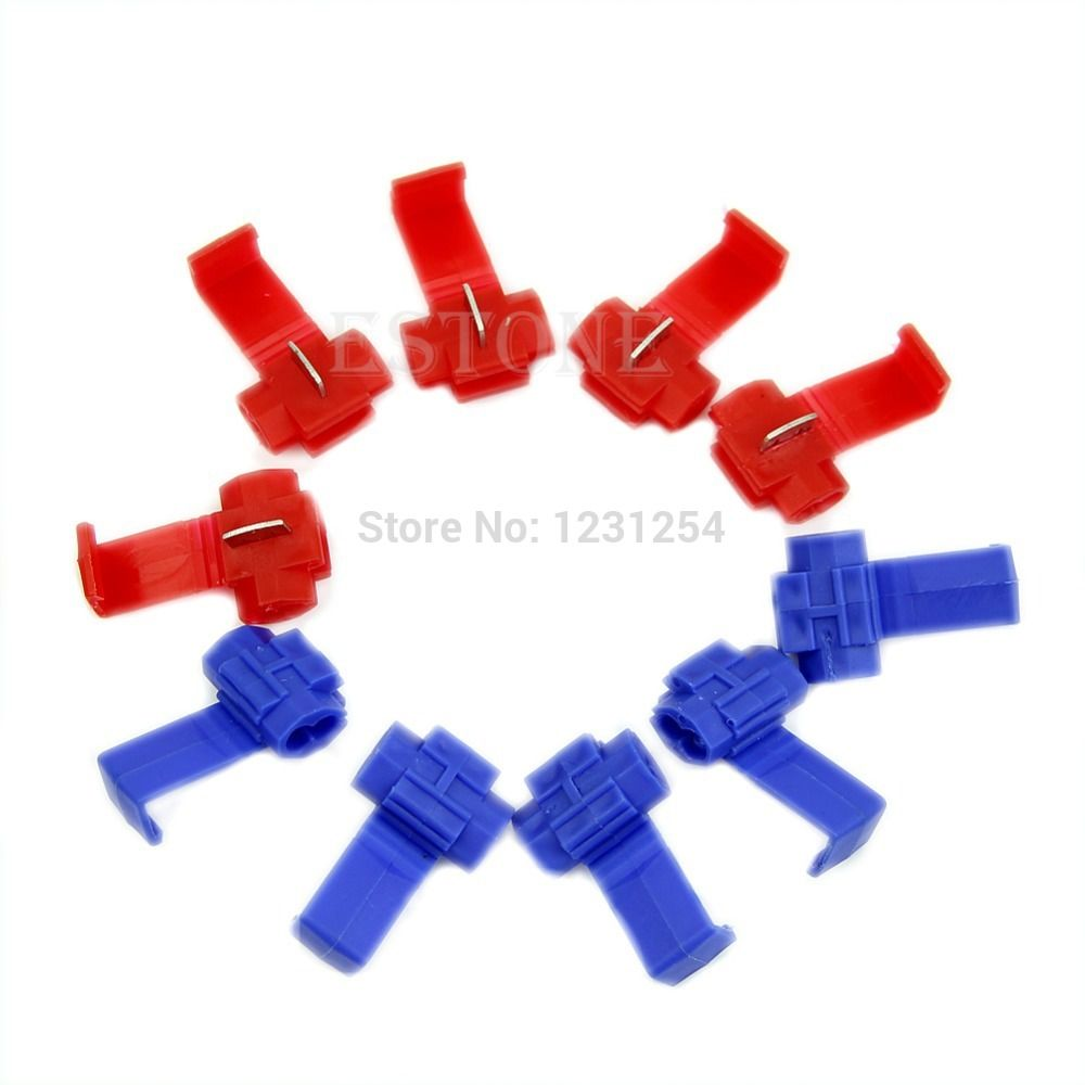 """Find More Connectors Information about Z101""""10pcs High quality Scotch Lock Quick Splice 18 14 AWG Wire Connector free shipping,High Quality connector samtec,China lock lock glass lunch box Suppliers, Cheap connector phone from Julia's 2014  store on Aliexpress.com"""