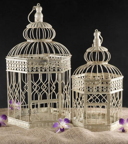 Wedding Birdcages Hexagon Shaped One In Cream 18 14