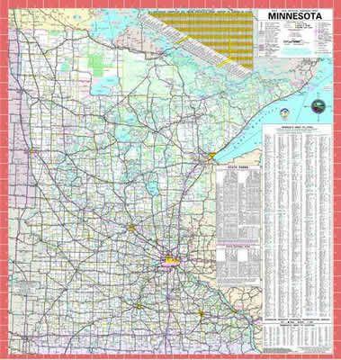 2013-2014 Minnesota state highway map | Travel/Explore ...