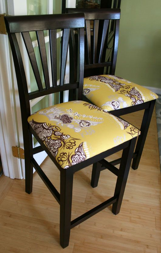 Reupholster Chair Cushions With Flowie Lela Fabric!