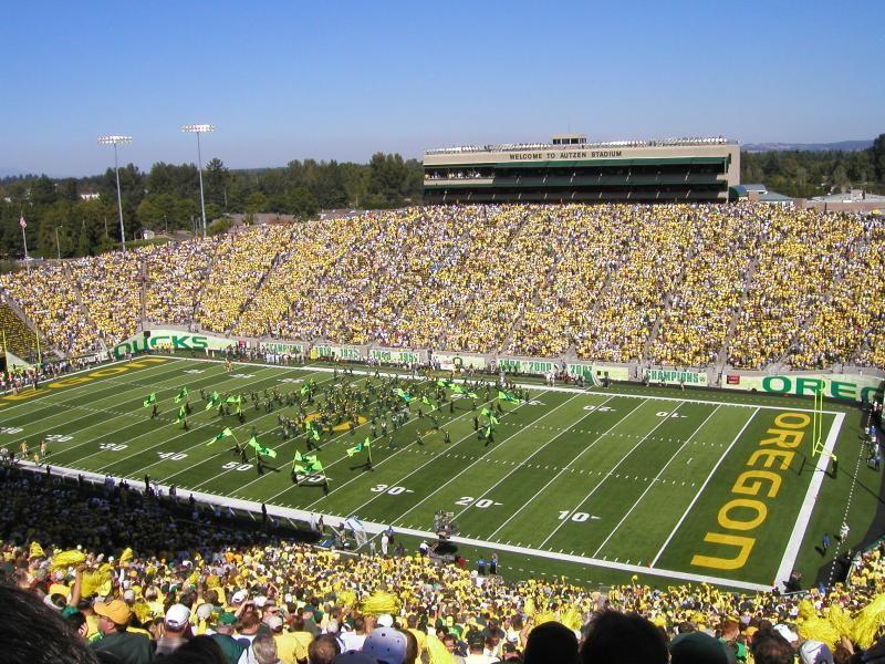 Autzen Stadium Autzen Stadium Oregon Ducks Football Oregon Ducks
