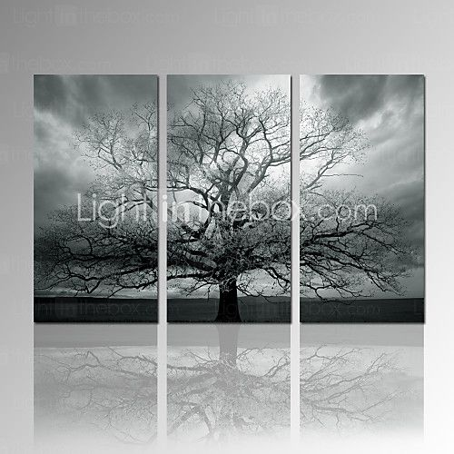 Visual starstretched canvas print winter large tree digital print on canvas wall art set
