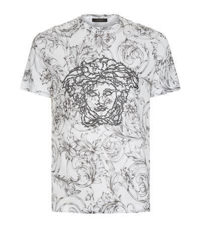 Versace 3D Print Mens Black Graphic Medusa T-Shirt 3X-Large