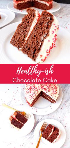 Healthy-ish Chocolate Cake #easychocolatecake